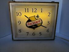 Vintage 1950's-1960's Falstaff Beer Price Brothers Lighted Brewery Clock Sign