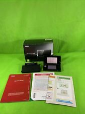 Nintendo 3DS Cosmos Black Console Boxed With Charging Dock, No Charger, Tested