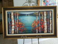 Michael Milkin View Beyond the Birch Trees Giclee on Canvas