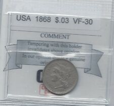 **1868**USA, Three Cent Coin