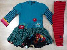 Catimini Designer Girls Bubble Dress & Leggings Set 12-18 Months Size 1