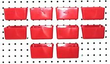 Plastic RED PEG BOARD BINS 10 PACK Tool Workbench PEGBOARD NOT INCLUDED