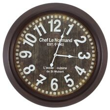 Yosemite Home Décor Circular Iron Wall Clock, Black Frame - CLKA1A082NE