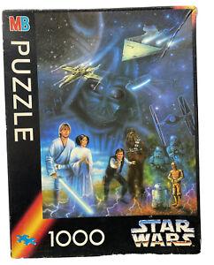 Star Wars Vintage 1994 1000 piece Jigsaw Puzzle Luke Skywalker Chewbaca