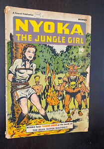 NYOKA JUNGLE GIRL #14 (Fawcett 1947) -- Golden Age -- QUALIFIED (Incomplete) GD