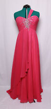 NIGHT MOVES FUCHSIA BEADED SEQUINS GEMS CHIFFON PROM FORMAL GOWN DRESS 14