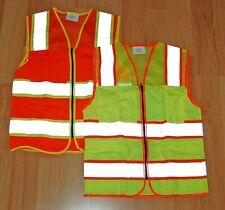 Safety Vest Reflective Class 2 Hi Viz Small Orange Or Large Yellow Class Ii