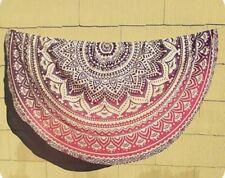 Indian Ombre Round Beach Towel Gypsy Tapestry Boho Yoga Mat Bohemian Throw Decor