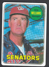 Ted Williams Danbury Mint Porcelain Reprint Card 1969 Senators Manager #650