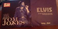 2 promo cds from  newspapers TOM JONES re recordings ELVIS PRESLEY live + studio