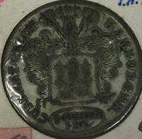 1727 GERMAN STATE HAMBURG 8 SCHILLING SILVER COIN