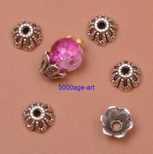 100Pcs Tibetan Silver charm Flower End Bead Caps Jewelry Findings 6mm A3053