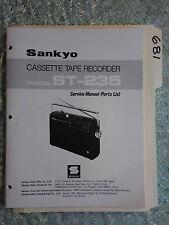 Sankyo st-235 service manual original repair book cassette tape deck