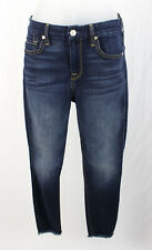 7 For All Mankind NWT Dark Wash High Waist Ankle Skinny Jeans Size 24