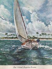 George Vaklev Vintage Lithographs Set Of 7 Nassau Grand Bahama & Out Islands