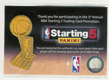NEW 2010 NBA FINALS PATCH LOS ANGELES LAKERS BOSTON CELTICS PANINI STARTING 5
