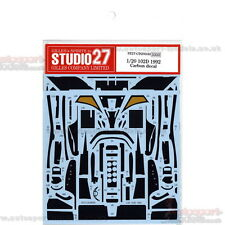 1/20 LOTUS 102D CARBON decals Set da Studio 27 ~ CD20040 per soddisfare KIT TAMIYA
