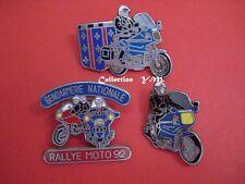 Pin's- Gendarmerie Nationale- BMO GM MELUN 2° Grpt/ RALLYE MOTO 92/ Motocycliste