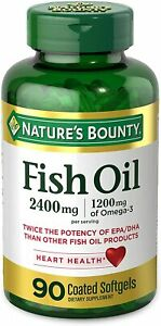 Fish Oil by Nature's Bounty, Dietary Supplement, Omega 3, Supports Heart...