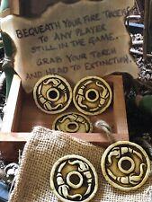 Survivor Fire Token Replica Torch coin Fan made handmade USA 3 coins & Gift Bag