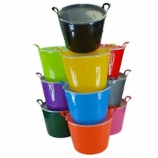 10 x 42 Litre Large Flexi Tub Garden Home Storage Container Bucket MADE IN UK