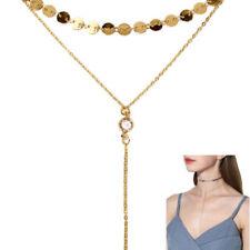 Modeschmuck-Halsketten & -Anhänger im Choker-Stil mit Kristall-Hauptstein