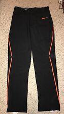 NEW Nike Flex Vapor Mens Black Orange Baseball Pants *LT*