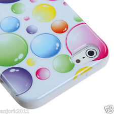 APPLE iPHONE 5 CANDY GEL TPU SKIN CASE COVER PHONE ACCESSORY RAINBOW BUBBLES