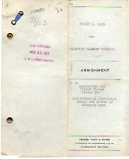 0328 Hubert K Wood patent papers Electric Flasher Co 1917 James T. Newton