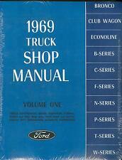 1969  FORD  TRUCK SHOP MANUAL-ALL MODELS-2 BOOK SET