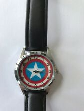 Captain America Leather Strap Watch NEW