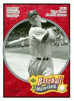 2005 UPPER DECK BASEBALL HEROES #163 - MICKEY MANTLE - RED PARALLEL SP/UD #16/75