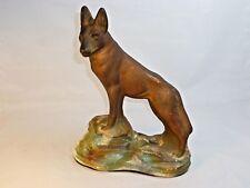 Vintage Chalkware German Shepherd Statue