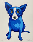 George Rodrigue BLUE DOG Purity of Soul Hand Signed & Numbered Serigraph