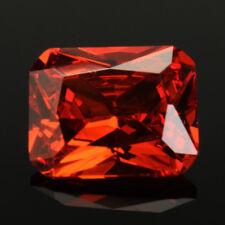 5/10Pcs 8x10mm Brilliant Cut Red Orange Sapphire 5.02CT Unheated Loose Gemstones