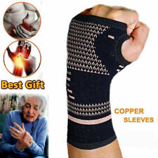 Copper Wrist Hand Brace Support Fit Arthritis Sprain Carpal Tunnel Splint Straps
