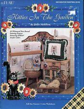 Kitties In The Garden Decorative Tole Painting Book by Helen Nicholson 9155 NEW