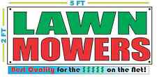 LAWN MOWERS Banner Sign NEW Larger Size Best Quality for The $$$$