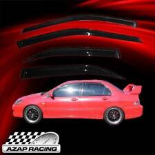 03-06 OE Window Visor Rain Guard Vent 4pc Fits Mitsubishi Lancer 4Dr-Smoke