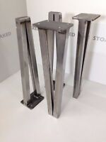 Set of 4 Thick Hairpin Style Industrial Metal Table Legs ERW Steel Dining Custom