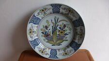 Grand plat faience du Nord.Céramique.  XVIIIème  34 cm. Antique earthenwar dish
