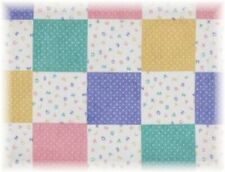 Baby Blocks Fabric ABC Patchwork Pastel Quilt Squares  -  BTY