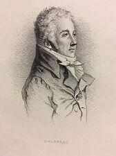 Nicolas Dalayrac (1753-1809) compositeur Musique gravure 1868  France