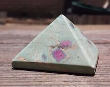 RUBY IN FUCHSITE NATURAL LARGE GEMSTONE CRYSTAL PYRAMID 50mm [2]
