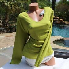 NWT Lane Bryant 22/24 3X  Supima Cotton Chartreuse V Neck Tunic Top Shirt New!