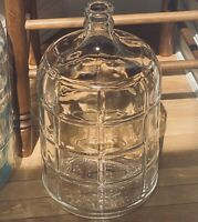 "Vtg LTS 3 Gallon Checkerboard Glass Carboy Demijohn Jug Bottle 16""H 9""W"