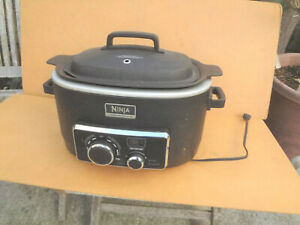 Ninja Cooking System 3 In 1 ~ 6 Quart ~ Model MC702Q ~ Black & Silver