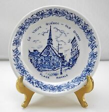 """Wood & Sons Le Vieux Old Quebec Place Royale Small Blue & White Plate - 4-3/8"""""""