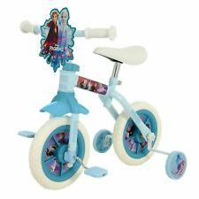 "Disney Frozen 2 Training Bike 10"" 2 in 1 Kids Ages 2+ Elsa Anna"