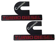 2X NEW Dodge Ram 1500 2500 3500 Cummins Turbo Diesel Emblem Badge Sticker Decal